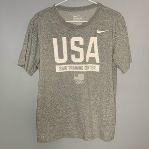 """Gray Nike T-Shirt """"USA Training Team"""""""